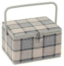SEWING BASKET BOX 'CHECK' DESIGN Large Size QUALITY MRL531