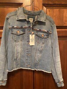 NWT Womens Matilda Jane Good Hart GH Lone Star Denim Jacket size S Small