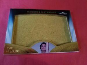 CYD CHARISSE WORN Jumbo RELIC SWATCH WARDROBE CARD 2016 Leaf Pop Century MARQUEE
