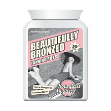 HOURGLASS GODDESS BEAUTIFULLY BRONZED TANNING TABLETS DEEP DARK TAN FAST