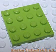 SK06) 10 Stück Apfel-grüne 1/3 Steine / BAUPLATTEN 4x4 BAU PLATTE & unbespielt !