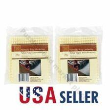 2 Pack Non Slip Grip Rug Carpet Floor Pad Underlay 18 x 28 Inches.