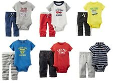 Carters Infant Toddler Boys 2pc Bodysuit Outfits Various Patterns & Sizes NWT