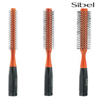 Sibel Round Radial Hair Brush Professional Ball Tipped/Nylon Pins For Blow Dry