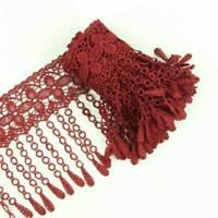 2 Yards Flower Tassel Venise Lace Fringe Applique Lace Sewing Trim Craft DIY