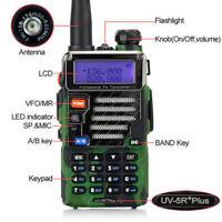Baofeng UV-5R Plus Qualette Camouflage Transceiver VHF UHF Ham Two-Way Radio US
