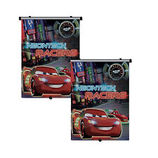 2 x Genuine Disney Cars Neontech Racers Sun Shade Roller Window Blind for Kids