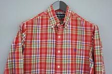 hombre Ralph Lauren Camisa Cuadros Rojo Algodón Informal Talla M maa500