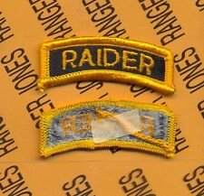 US ARMY RAIDER tab patch m/e