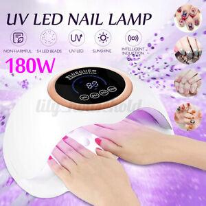 180W LED UV Lampe Nagel Trockner Lichthärtungsgerät Sensor Nageltrockner Manikür