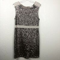 The Impeccable Pig Womens Dress Large Sequins Cocktail Bodycon Sleeveless