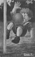 Artist Impression Football & Sports 1908 Player hit by ball 11314