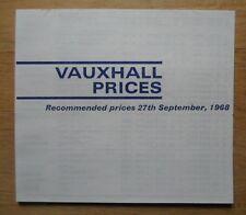 VAUXHALL RANGE orig 1968-09 UK Mkt prices brochure - Viva GT Ventora Viscount