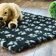 Vetbed Drybed 100x75cm PET ISOFLOOR schwarz/graue Pfötchen Hundedecke Hundebett