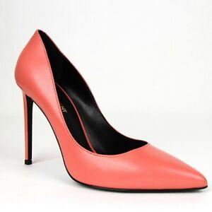 Saint Laurent Women's Rose Pink Leather Tripon Paris 105 Pump 375366 6618