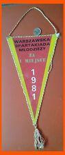 Warszawska Spartakiada Mlodziezi 1981 za I Miejsce SFS SZS WSM