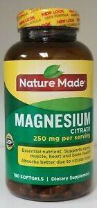 Nature Made Magnesium Citrate 180 ct Softgels