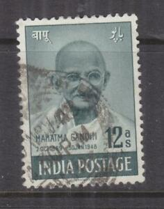 INDIA, 1948 Gandhi 12a. Green, used