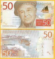 Sweden 50 Kronor p-70 2015 UNC Banknote