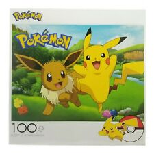 2019 Buffalo Games POKEMON 100 Piece Puzzle Pikachu Eevee * MISSING ONE PIECE *