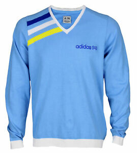 Adidas Mens Athletic Long Sleeve V-Neck Pullover Sweater