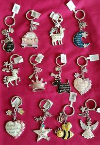 Equilibrium Key Ring 12 Designs Dog Pawprints Unicorn Mum's Taxi Love you Moon