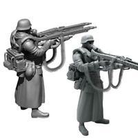 1/35 Deutscher Super Double Gun Resin Soldat Spielzeug Dekor M3C3
