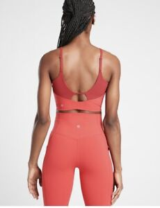 Athleta Intention Crop Tank Red Med Nwt