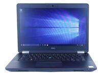 """Dell Latitude E5470 14"""" Intel i5 8 GB RAM 128 GB SSD Win 10 WiFi B Grade Laptop"""