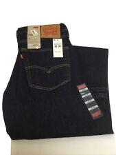 Original Levi's 505™ Regular Fit Straight Leg Black Denim Jeans W36 L30 New