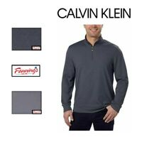 NEW! CALVIN KLEIN Men's 1/4 Zip Lightweight Pullover VARIETY Size & Color! A11