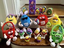 Lot 16 M&M Easter Toys and Plush Dolls - Collectible Mars Bunny Egg Locker