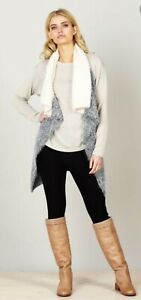 Near New - BRAVE + TRUE Size S/M Or 8  10 12 Charcoal Vest Cardigan