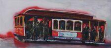 San Francisco Cable Car Graffiti Spray Paint Acrylic John Kilduff 16 x 36