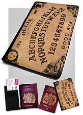Custodia per passaporto Ouija Board stampato in finta pelle Case Cover Gotico Emo Strega Fantasma