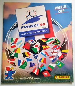 France 98 World Cup Panini Sticker Album - Partially Complete Decent Condition