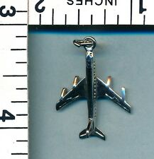 Airplane Charm Vintage Sterling Silver