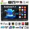 """7"""" Double 2DIN Quad Core Car Radio Stereo MP5 MP3 GPS Player Android 7.1 3G WIFI"""