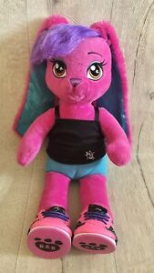 Build a Bear HG Honey Girls Pink Risa Rock Star Bunny Rabbit Soft Toy With Shoes