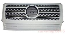 W463 90-12 Front Grille Mercedes Benz G-Class G500 G550 G55 AMG Chrome & White