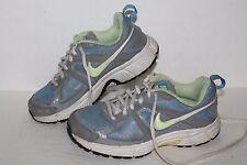 Nike Dart 9 Running Shoes, #443393-431, Blue/Grey/Yell, Youth US 3.5Y