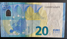 Très Rare billet 20 Euros Irlande TC Draghi Plaque 001