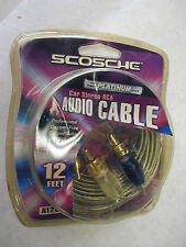 New listing A12C2 Scosche 12 Ft Rca Cable Oxygen Free Copper w Gold End Connectors