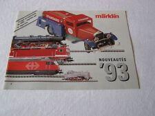 Ancien catalogue Marklin  1993