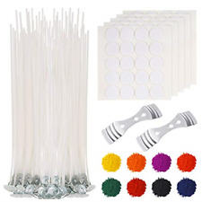 210 Pieces Candle Making Kit Supplies Wax Candle Dye Wicks Sticker Wicks Holder
