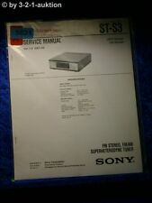 Sony Service Manual ST S3 Tuner  (#5021)