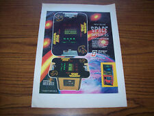Deluxe SPACE INVADERS Video Arcade Game AD LARGE Advertisement 1979 Alien Art