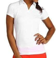 Adidas Golf Womens Formotion Polo Shirt w/ Coolmax NWT Size LARGE White