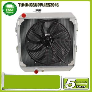 """4Row Radiator+16"""" fan For Toyota Hilux LN167/LN147 LN172 3.0L Diesel MT 97-05"""
