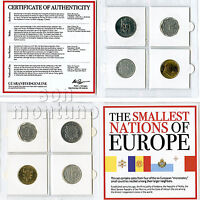 THE SMALLEST NATIONS IN EUROPE - 4 Coin Collection in Mini Album + Certificate